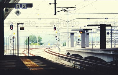 Public Trasportation Station Platform Station Metropolitan Conce