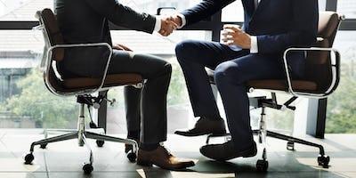 Businessmen Handshake Office Concept