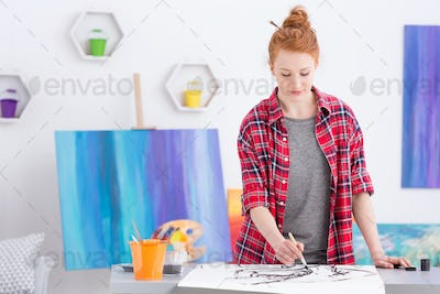 Creating her own art