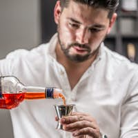 Bartender make a cocktail
