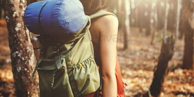 Adventure Backpack Camping Destination Nature Concept