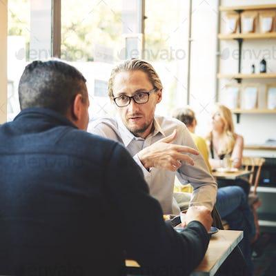 Business Cafe Colleagues Enjoyment Teamwork Concept