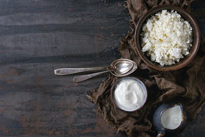 Cottage cheese with yogurt