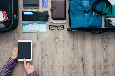 Traveling and booking online