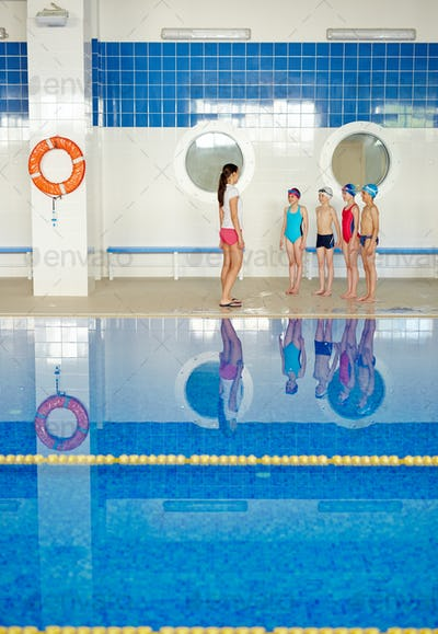 Lesson of swim