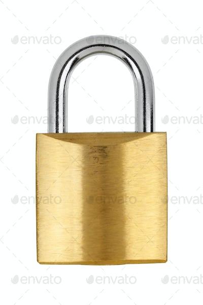 Metal yellow padlock