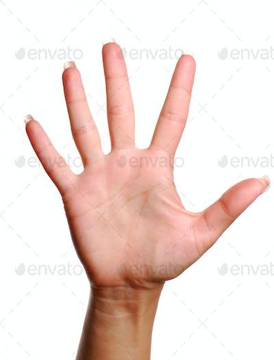 Gesture number five.
