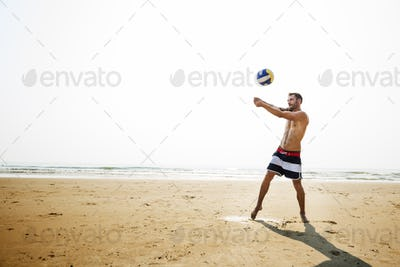 Volleyball Hobby Leisure Activity Playing Beach Concept