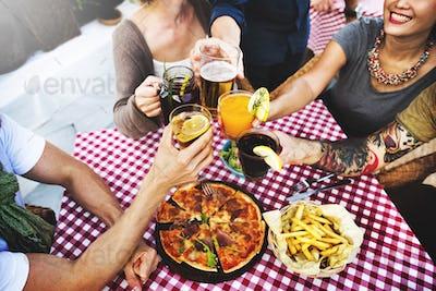 Friends Friendship Eating Drinks Togetherness Concept