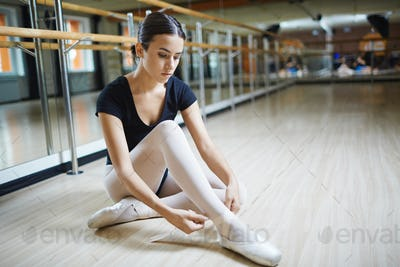 Getting ready for ballet class