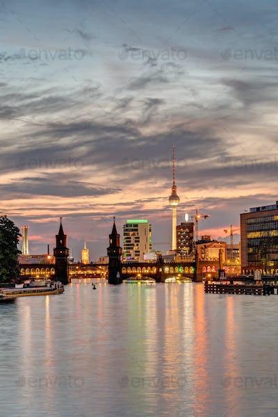 Dawn at the river Spree in Berlin