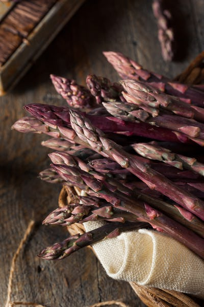 Raw Organic Purple Asparagus Spears