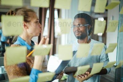 Discussing tasks