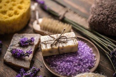 Spa lavender concept