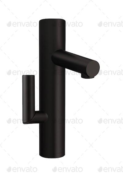Closeup of water-supply faucet mixer