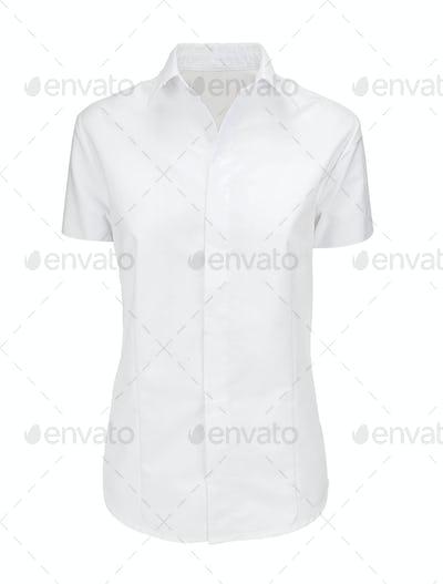 White female t-shirt isolated