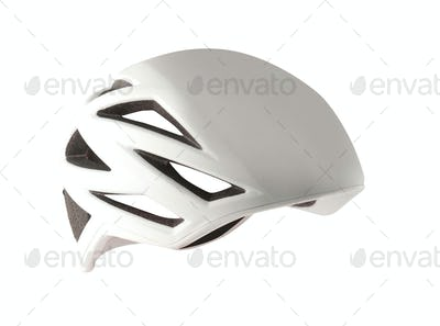 Close-up Of Bicycle Helmet Isolated On White Background
