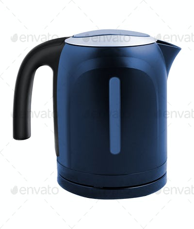 Electric tea kettle isolated