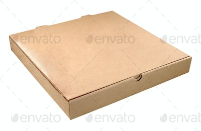 Pizza box isolated
