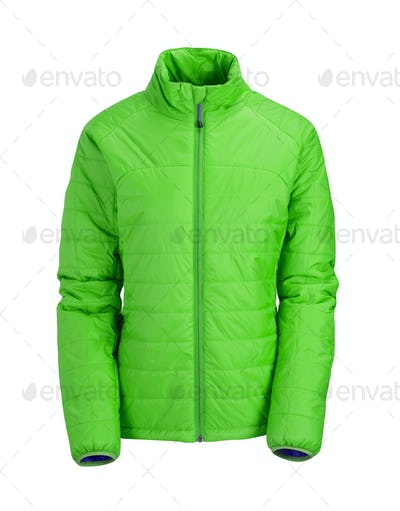 green jacket isolated on white