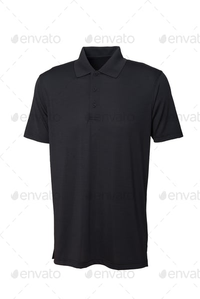 Golf black tee shirt for man or woman