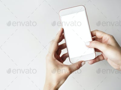 Mockup Copyspace Hands Mobile Phone Concept
