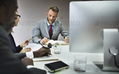 Business Meeting Discussion Conference Planning Concept