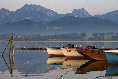 Boats in lake Hopfensee