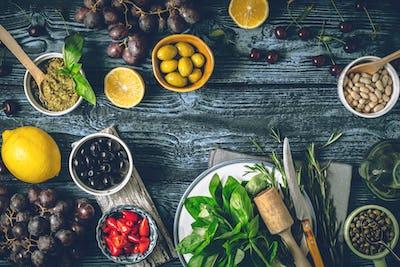 Concept of Mediterranean cuisine.