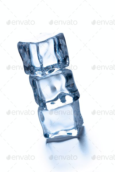 pile of three ice cubes