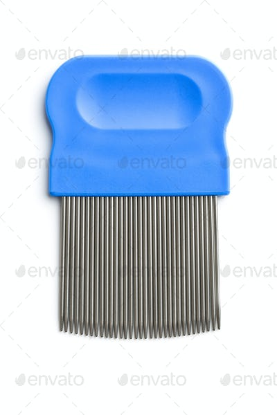 Comb for combing out lice.