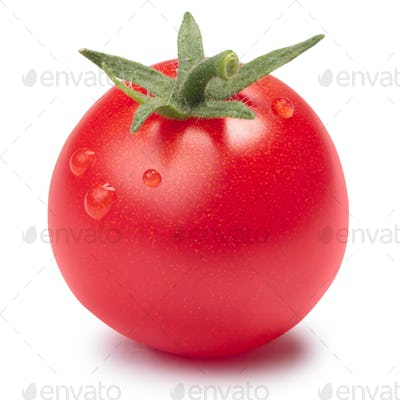 Cherry tomato (Tiny Tom) with sepal, paths