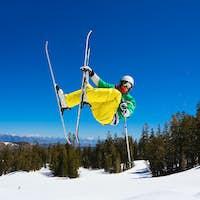Skier gets Big Air off Jump