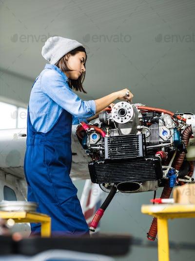 Repairing machine part