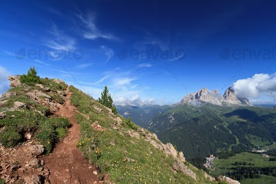 Pordoi pass Belvedere, Italian Dolomites