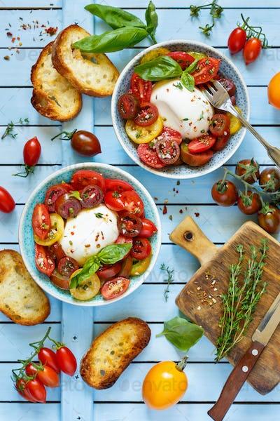 Fresh tomatoes salad.