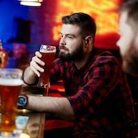 Man at bar