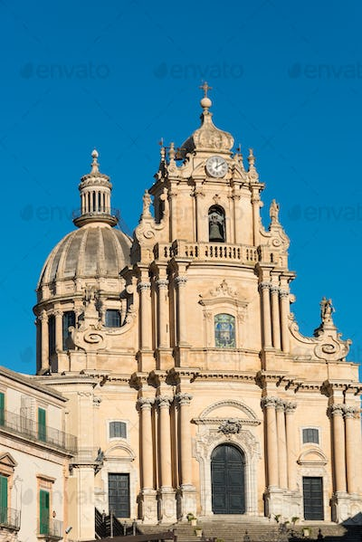 The baroque cathedral in Ragusa