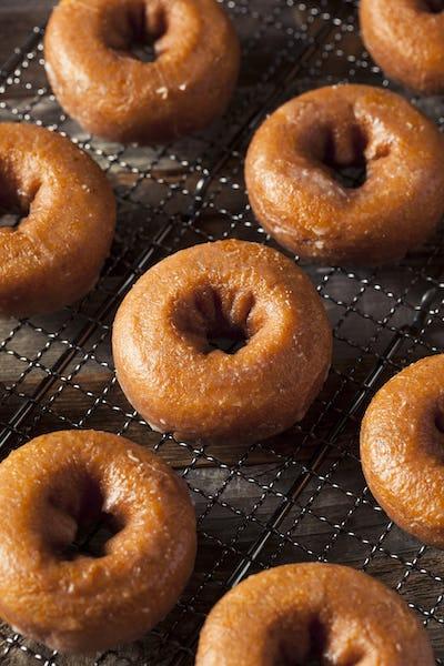 Homemade Glazed Autumn Pumpkin Donuts