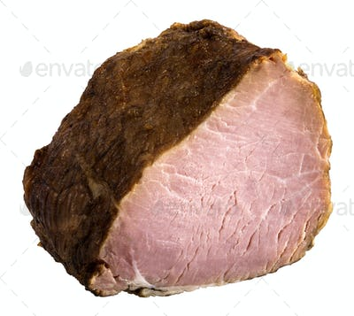 Appetizing piece of smoked meat