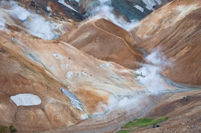 colorful mountains in Iceland, all deserted