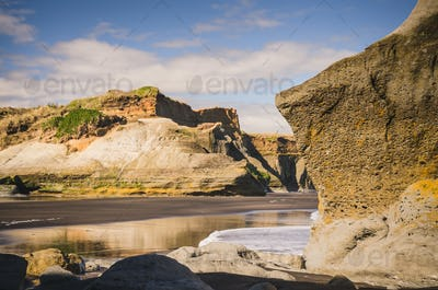 rock formations at the sea shore
