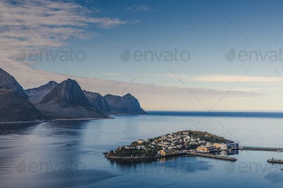 small town of Husoy, Senja Norway