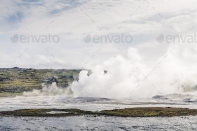 volcanic fields of Hveravellir, Iceland