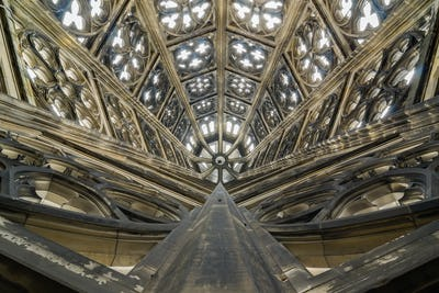 Ceiling of the Roman Catholic Cologne Cathedral, Germany.