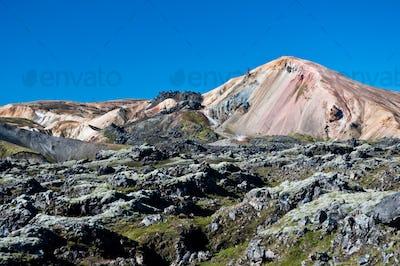 Landmannalaugar , rainbow mountains in Iceland