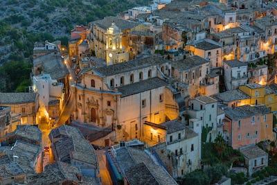 A part of Ragusa Ibla at night