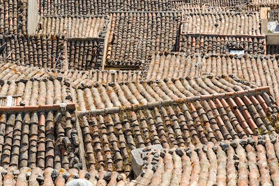 The roofs of Gangi in Sicily