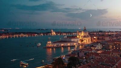 Beautiful sunset in Venice