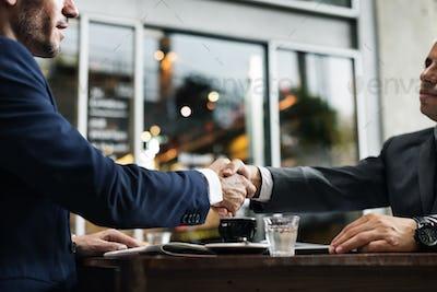 Handshake Partnership Deal Agreement Terms Concept